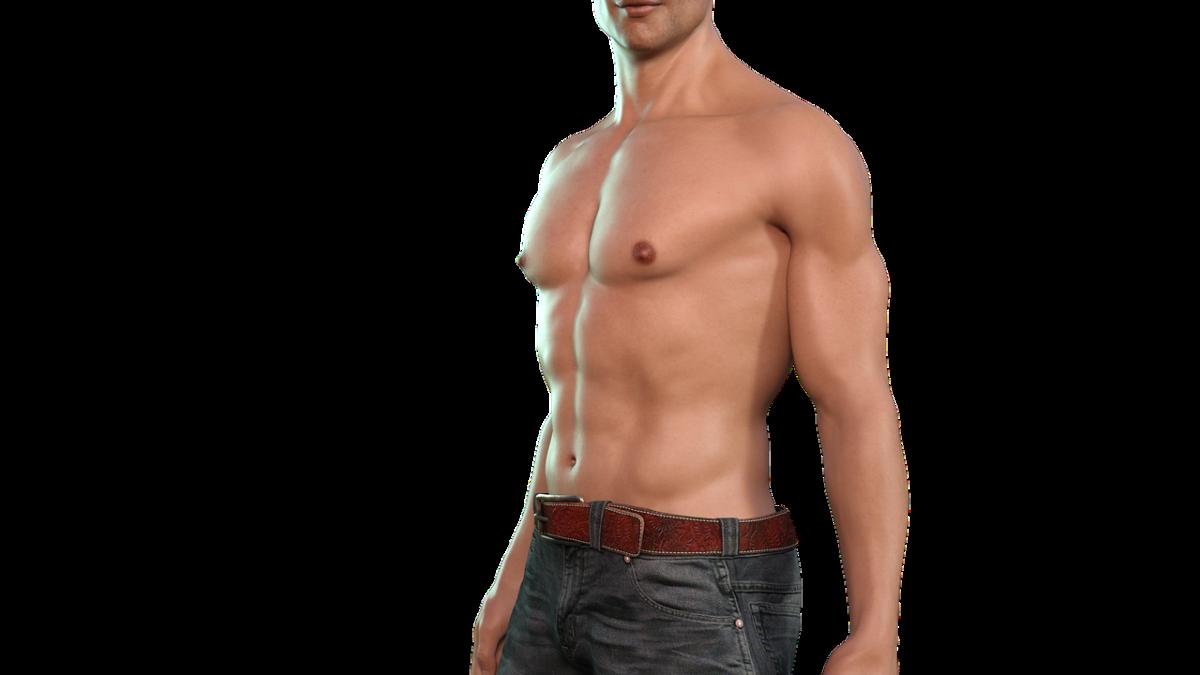 גבר חזק ושרירי